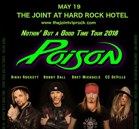 Poison & Cheap Trick at The Joint at Hard Rock Hotel