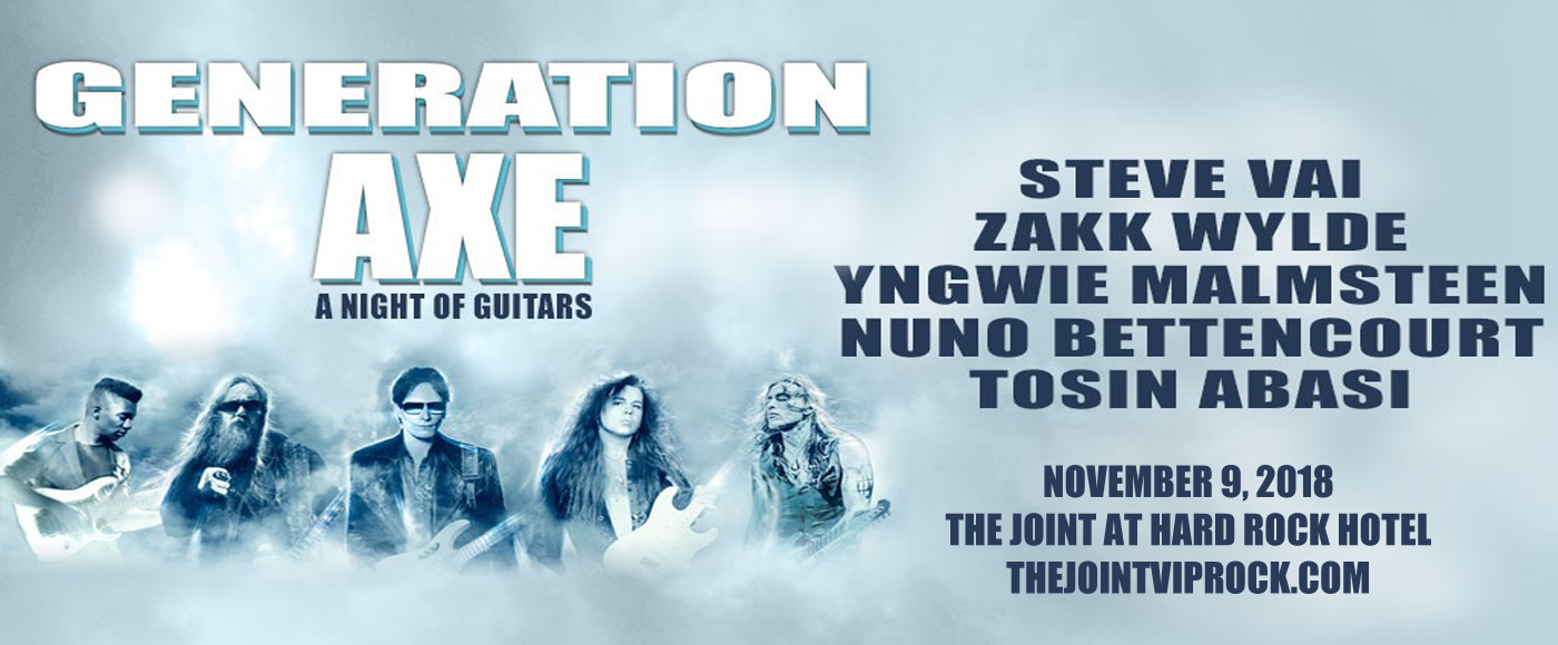 Generation Axe, Steve Vai, Zakk Wylde, Yngwie Malmsteen, Nuno Bettencourt & Tosin Abasi at The Joint at Hard Rock Hotel