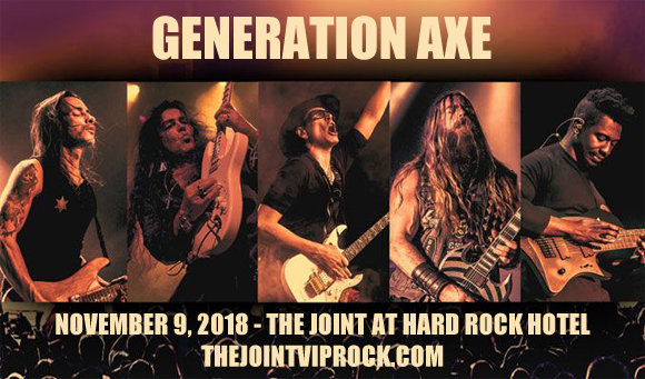 Generation Axe, Steve Vai, Zakk Wylde, Yngwie Malmsteen, Nuno Bettencourt & Tosin Abasi at The Joint at Hard Rock Hotel