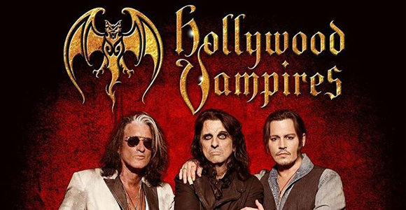 The Hollywood Vampires: Alice Cooper, Johnny Depp & Joe Perry at The Joint at Hard Rock Hotel