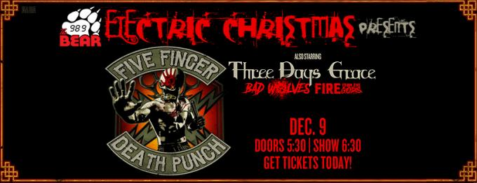 Five Finger Death Punch, Three Days Grace & Bad Wolves at The Joint at Hard Rock Hotel