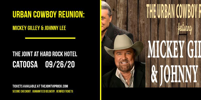 Urban Cowboy Reunion: Mickey Gilley & Johnny Lee [POSTPONED] at The Joint at Hard Rock Hotel