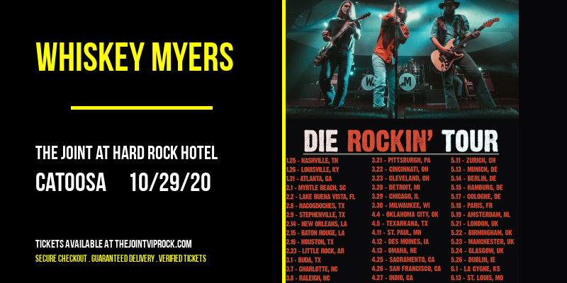 Whiskey Myers [POSTPONED] at The Joint at Hard Rock Hotel