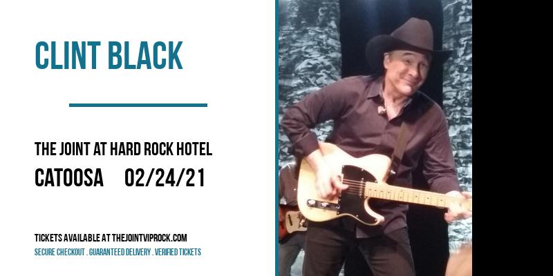 Clint Black at The Joint at Hard Rock Hotel